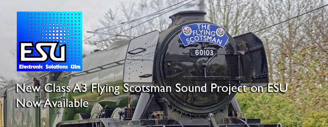 DCC sound decoder class a3 flying scotsman ESU